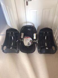 1x Graco Junior car seat & 2x Graco Junior car seat belted bases