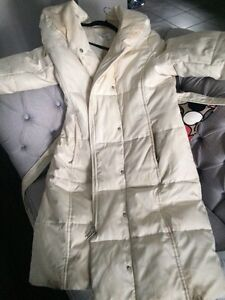 Calvin Klein long white winter jacket