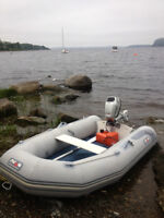 AVON Inflatable 280 with 5 HP Honda Outboard