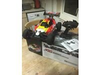 rc nitro thunder tiger eb4 1/8 scale buggy boxed rtr