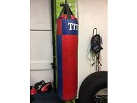 Punch bag and bracket