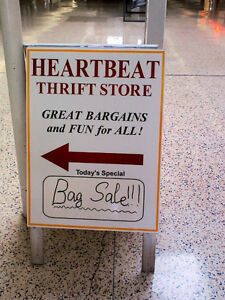 Free Clothes& Books in HEARTBEAT Thrift Store/BayView Mall