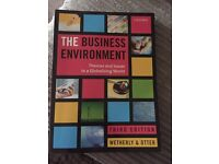 The business and environment book.