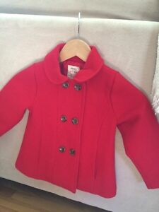 Red wool coat 4t - old navy