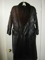 manteau de cuir long noir