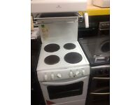 White new world 50cm high level electric cooker grill & fan oven good condition with guarantee