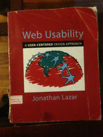 Web Usability by Jonathan Lazar Textbook
