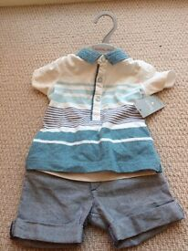 New baby 2 piece still with label 3-6 months