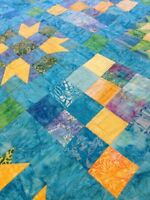 Double-sized homemade quilt
