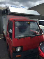 1991 Subaru Sambar Mini Kei Truck with Aluminum Cube Box