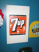 Original 1950s 7UP embosted sign