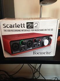 Scarlett 2i2 recoding interface