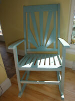 Beautiful Blue Rocking Chair