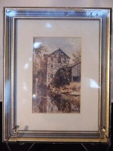 Keirstead Print (Mill, gray/gold frame)