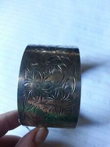 FORSTNER STERLING SILVER 1 1/2in  WIDE
