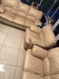 Cream leather 3 2 1