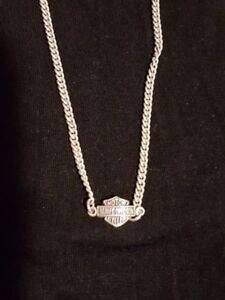 Harley Davidson (Ladies) Sterling Silver Necklace