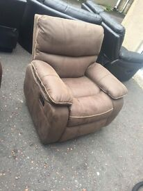 Ex-display***brown suede reclining armchair---ONLY £140---CALL TODAY!!!