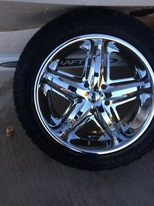 "22"" DUB wheels with tires London Ontario image 4"