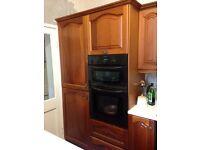 Solid wood kitchen & appliances