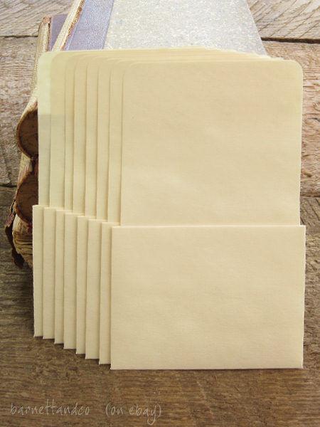 50 Plain Library Pockets - No Adhesive
