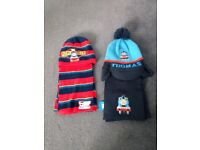 X2 Thomas hat & scarf sets age 1-5 years