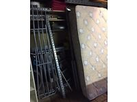 Stainless Steel bunk beds with mattresses - excellent condition