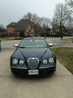 2008 Blue Jaguar S-TYPE 3.0 Sedan with two sets of tires