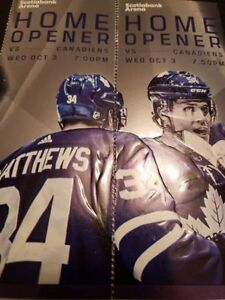 Leafs vs Montreal Tix  Home Opener  Oct 3rd.