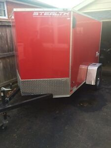 Like New! 5x8 enclosed trailer