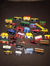 Large Set of Brio Trains and Track