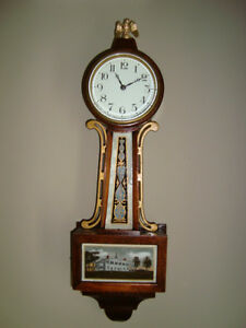 VINTAGE EARLY 1900'S BANJO KITCHEN CLOCK