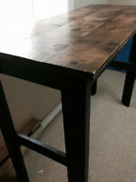 Beautiful Rustic Bar-Height Table