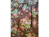 Cath Kidston Ditsy Rose Pencil Pleat Curtains-Lined
