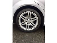 Mercedes AMG alloy wheels 5x112 17 inch good tyres looking for 18s 19s