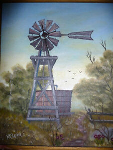 """D. McLeod """"OldTimer"""" Vintage Oil Painting 1987 Stratford Kitchener Area image 2"""
