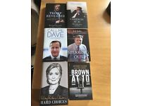 Collection of political books/ political biographies