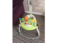 Fisher Price jumperoo, space saver new style, folds flat immaculate, with box and instructions