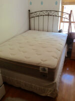 Full mattress, box spring, and frame