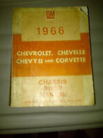 1966 chevrolet, chevelle, chevy ii and corvette chassis shop man