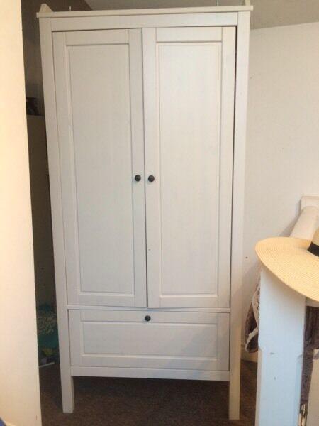 Small white wardrobe