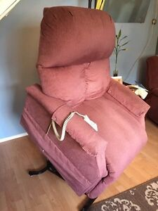Rose colored lift chair