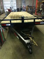 20' 2011 PJ Flat Deck Black Trailer