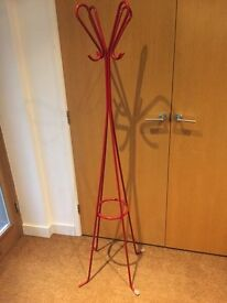Habitat red high gloss coat stand.