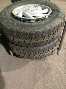winter tires and rims 235 75 15