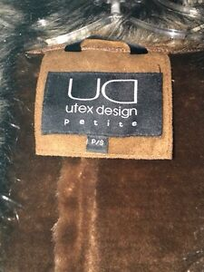 Suede and Fur Elegant Coat - Size S Kitchener / Waterloo Kitchener Area image 2