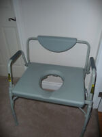 Oversized Drop Arm Commode / Shower Chair