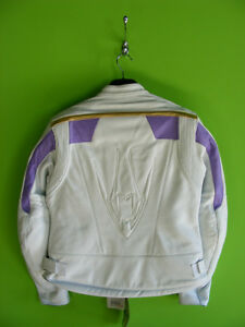 Arlen Ness Ladies Leather Jacket - White and Purple at RE-GEAR Kingston Kingston Area image 2