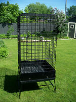 Large parrot cage, Grande cage a Perroquet