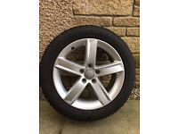 Audi A4 full set of winter wheels and tyres including wheel storage bags